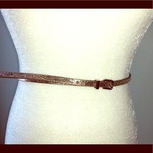 Express Thin Gold Belt, Size Medium